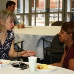 Students meet one-on-one for coffee with the law school deans, like Asst. Dean for Public Interest Programs Julie Jackson.