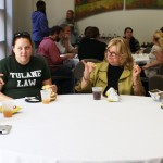 Coffee with the Deans promotes dialogue among students and faculty, like Asst. Dean of Students Tondra Netherton.