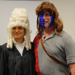 Emilie Pfister (L '16) and Asst. Dean for Experiential Learning Jim Letten take Halloween seriously.