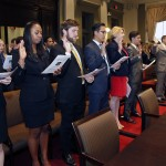 Students attorneys working in Tulane's six clinics are sworn in at the Louisiana Supreme Court so they can represent clients.