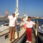 Adjunct Prof. Mike Butterworth and Pierre-Marseille de Saboulin Bollena (LLM '14) sail Lake Pontchartrain.