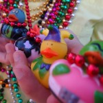 A sampling of clever, colorful throws caught during Mardi Gras weekend. Photo by Dennis Zhao.