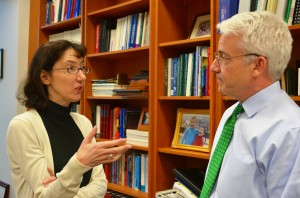 Professor Ann Lipton (pictured with Dean David Meyer) joins the Tulane Law faculty for the fall 2015 semester.