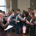 Third-year students are admitted to practice in Tulane Law's clinics during the 36th Annual Swearing-In Ceremony at the Louisiana Supreme Court.