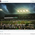Alum Dennis Zhao (LLM '15) snaps and shares a stunning photo of Yulman Stadium during Tulane's Homecoming game - and wins Hero Sports' College Photo of the Week contest.