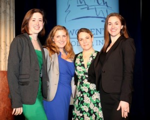 Bethany Van Kampen (center right) and her peer Women's Policy, Inc. fellows attend the organization's annual gala in Washington, D.C. Photo courtesy of Bethany Van Kampen.