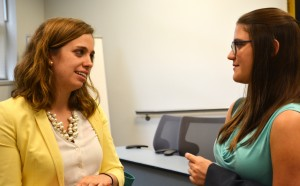 Kirsten Lavery (L '13) spoke with Tulane Law students about opportunities at the Public International Law & Policy Group.